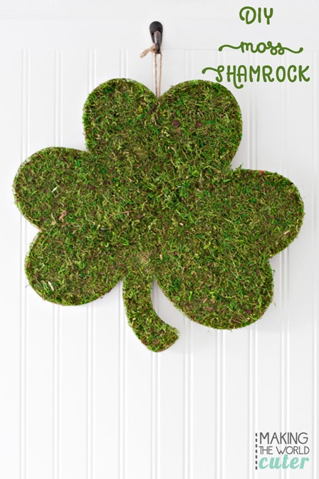 Shamrock with Moss from Making the World Cuter