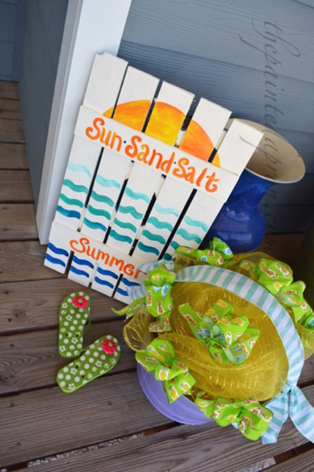 Sun Sand Salt Summer Sign from The Painted Apron