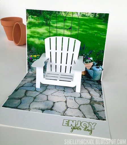 Lawn Chair Pop Up Card from Stamptramp