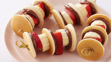 Nutella Mini Pancake Kabobs from Darling Gourmet on Tablespoon