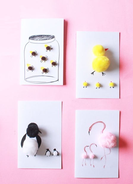 Pom Pom Mother's Day Cards from Design for Soul
