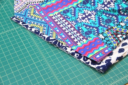 Cutting the angled hem on the top