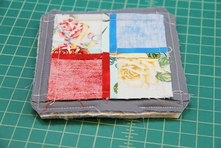 Layers sewn together