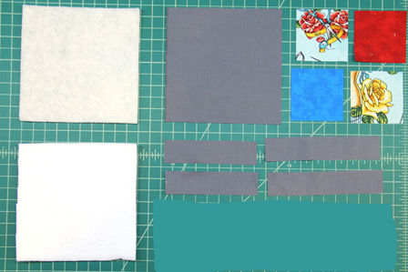 Pieces to Make 4 Patch Coasters