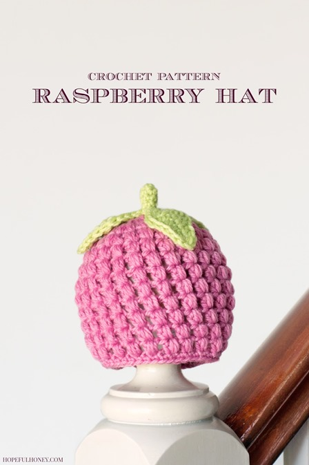Raspberry Hat Crochet Pattern from Hopeful Honey