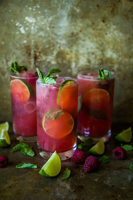Raspberry Mojitos from Heather Christo