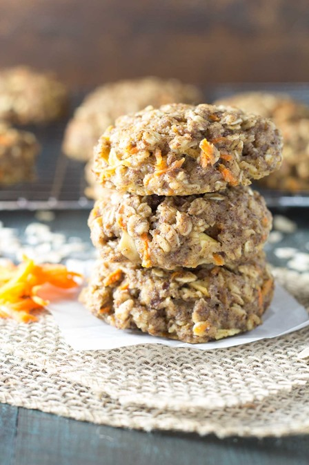 Carrot Cake Breakfast Cookies from Kristines Kitchen