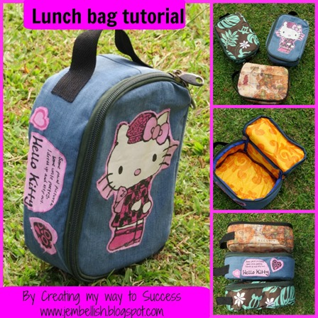 Lunch Bag Tutorial from Creating My Way to Success