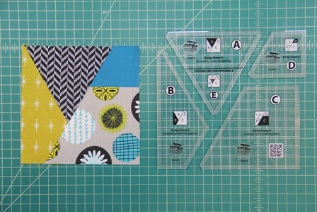 one quilt block with rulers