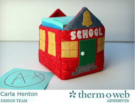 Schoolhouse Sticky Note Box from Thermoweb