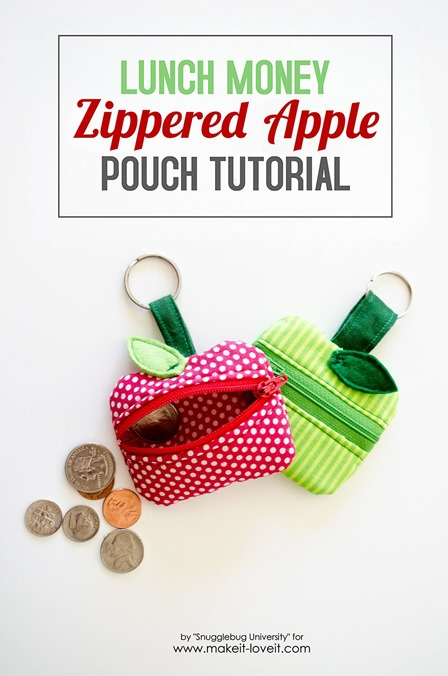 Zippered Apple Pouch from Make It and Love It