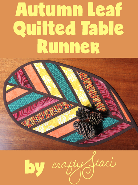 Autumn Leaf Quilted Table Runner by Crafty Staci