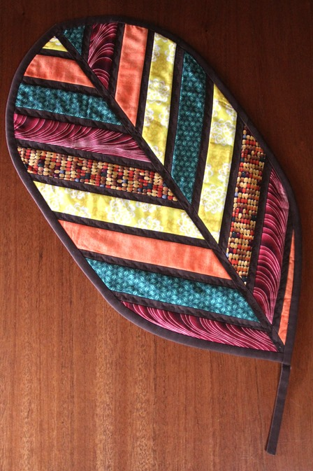 Autumn Leaf Quilted Table Runner