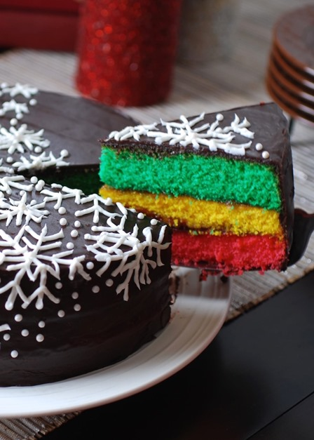 Italian Rainbow Cookie Cake from Always Order Dessert