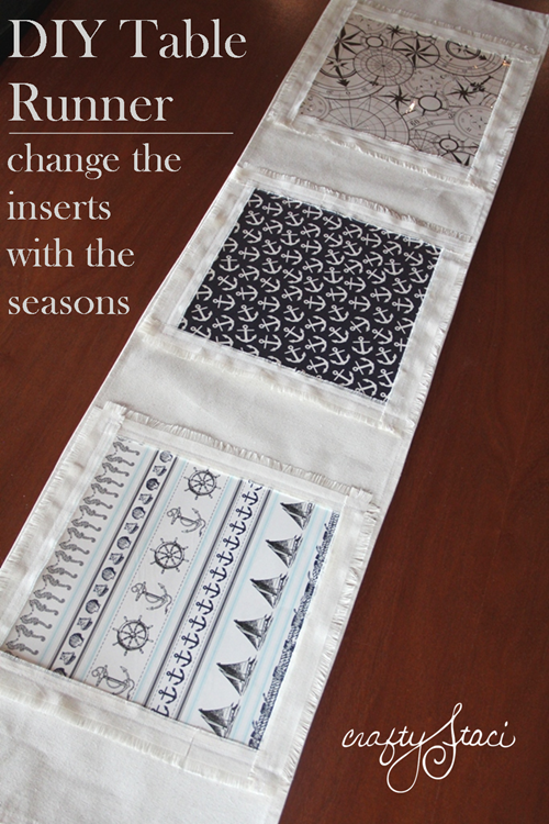 DIY Table Runner with inserts to change with the seasons