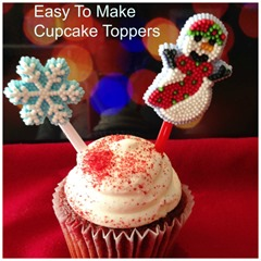 Easy Christmas Cupcake Toppers from Starr Creative