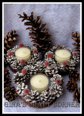 Mini Pinecone Wreath from Ginas Craft Corner