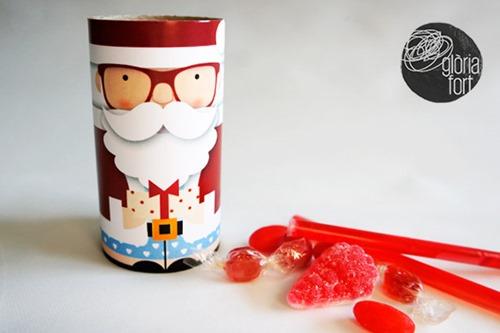 Cardboard Tube Santa from Glory Strong Studio