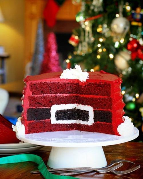 Santas Belt Surprise Cake from I Am Baker