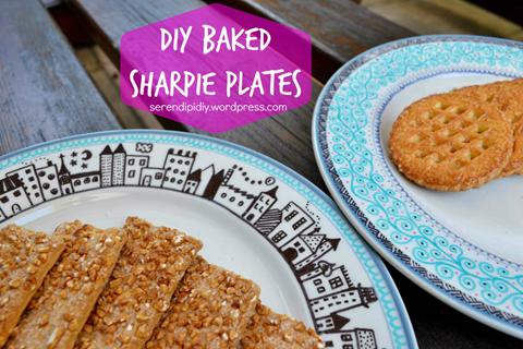 DIY Baked Sharpie Plates