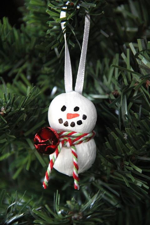 Hazelnut snowman