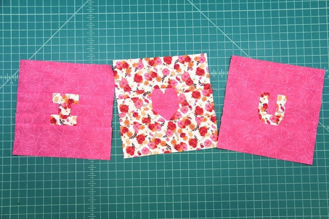 I heart you finished squares